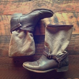 FRYE Melissa Short Shaft Women Moto Leather boots